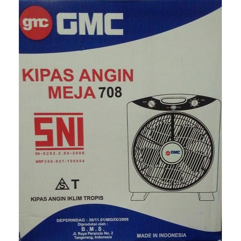 (Limited Offer) GMC 708 Box Fan 12 inch - Kipas Angin Kotak - Meja - Duduk - Lantai