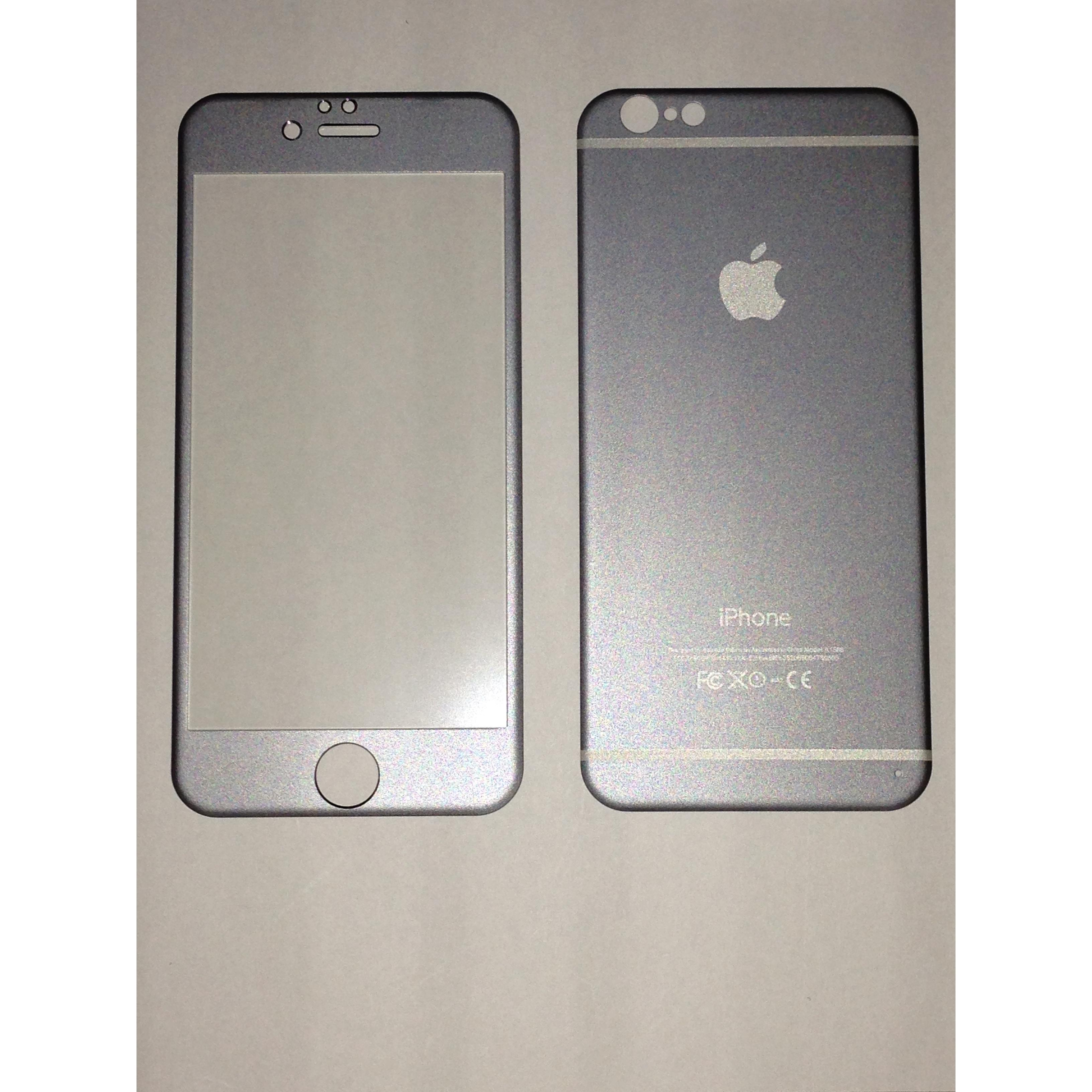 Apple Iphone 6 Grey Titanium Alloy Depan + Belakang Premium Tempered Glass 9a1ab823d6