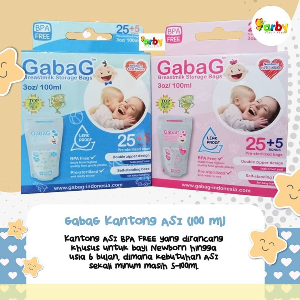 (30pcs @100ml) GabaG Kantong ASI BPA Free / Breastmilk Storage