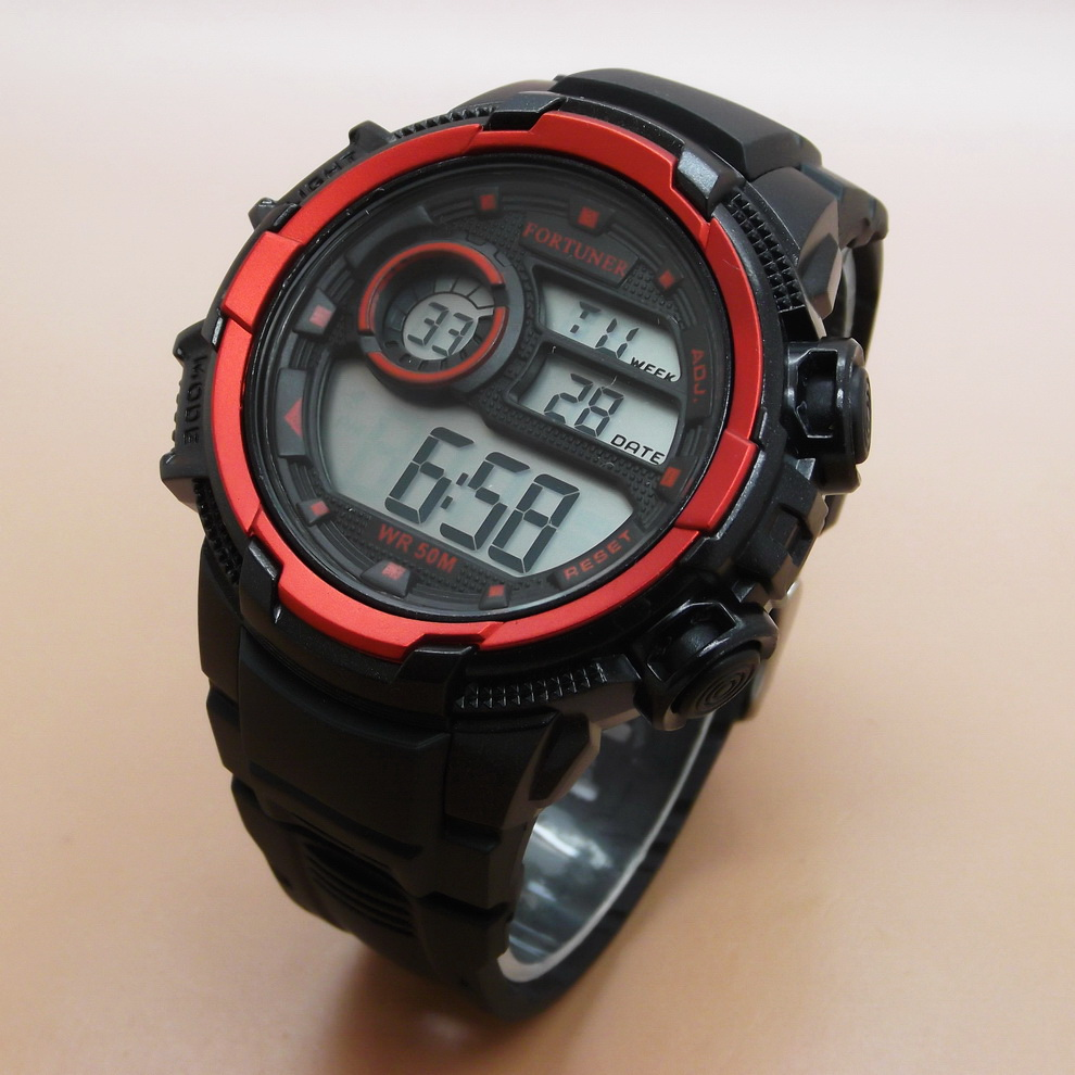 ... [Fortuner] 1610 Jam Tangan Pria Digital Original Rubber