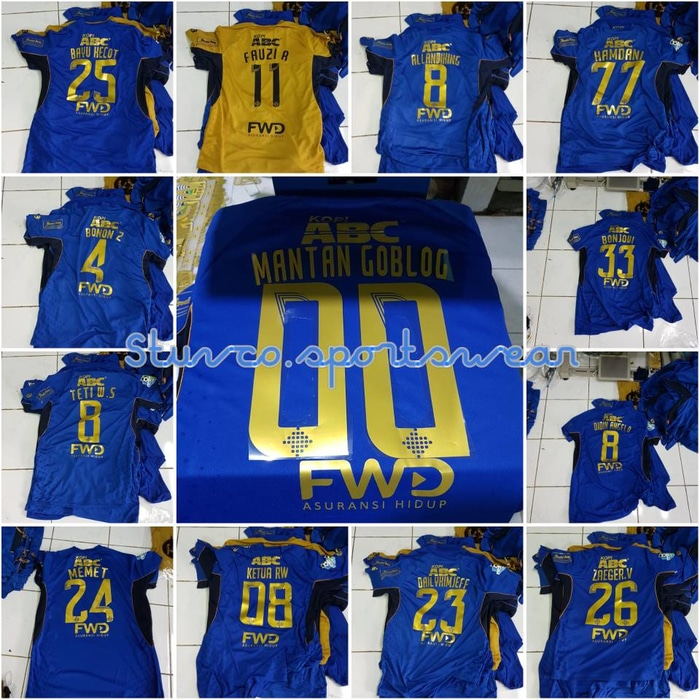 ... Jersey Persib Home Costume name + patch 2017/2018 grade ori official ...