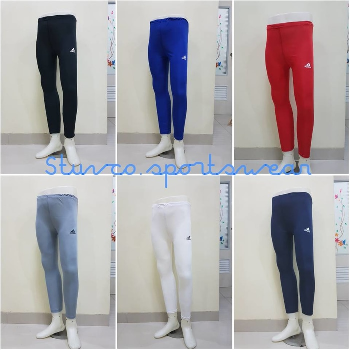 Celana Baselayer Panjang Longpants Manset Training Gym Legging Renang .