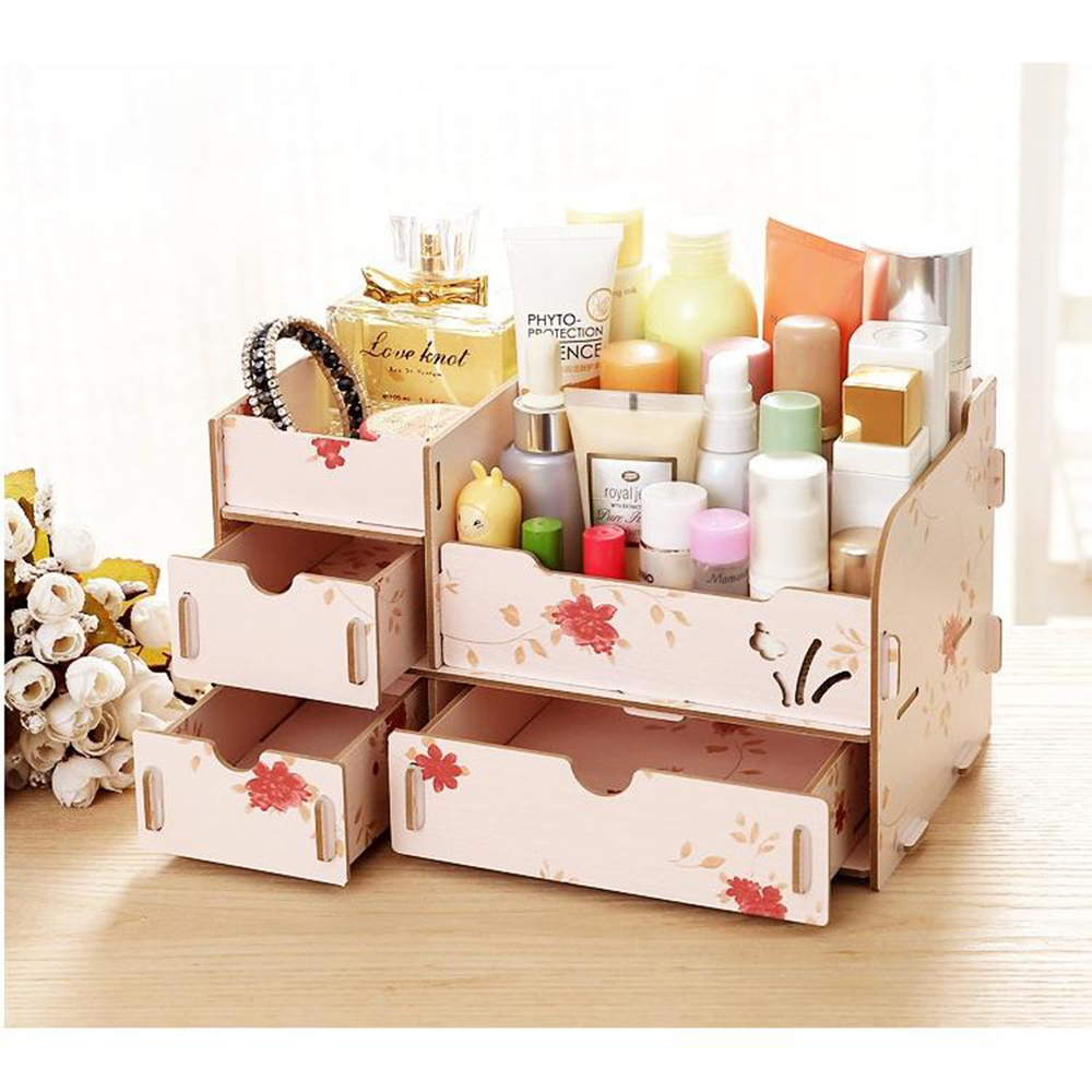Rak Kayu Kosmetik Diy 03 Kupu Tempat Cosmetic Stationary Alat Tulis Organizer Do It Yourself