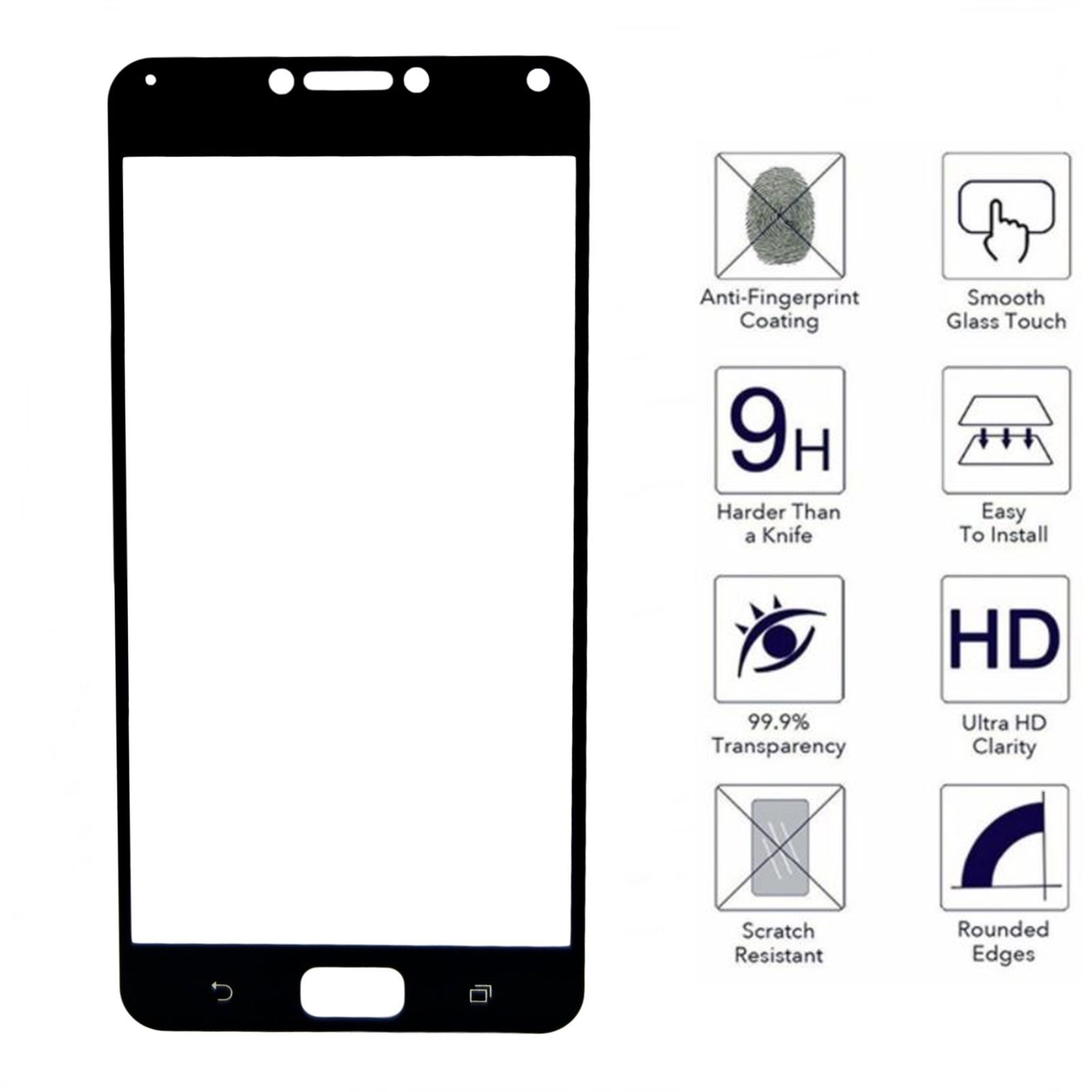 HMC Asus Zenfone 4 Max Pro / ZC554KL Tempered Glass - 2.5D Full Screen -