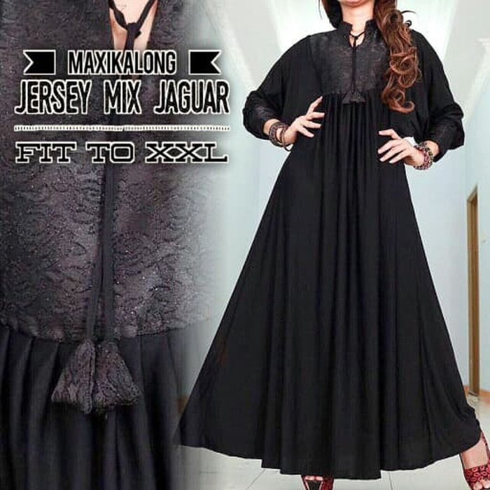 Maxi Dress Pesta Simple Jumbo Bigsize Gamis Kaftan Elevenia