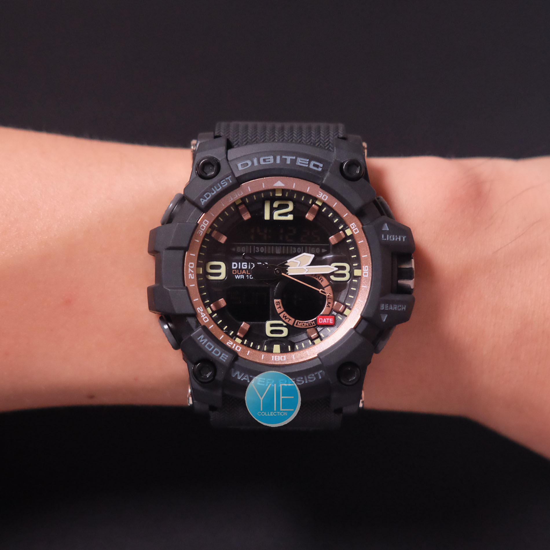 ... Digitec Jam Tangan Dual Time DG 2102 T 3 Waktu Anti Air Original