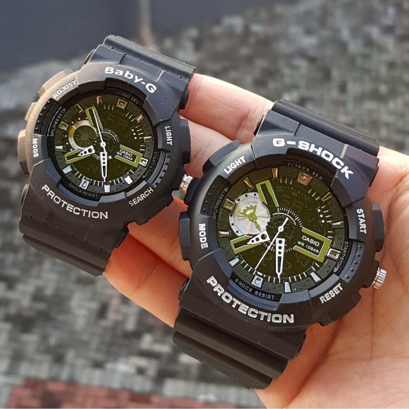 Jam Tangan Couple G-shock Ga110 Black List White Premium  a87b51c536