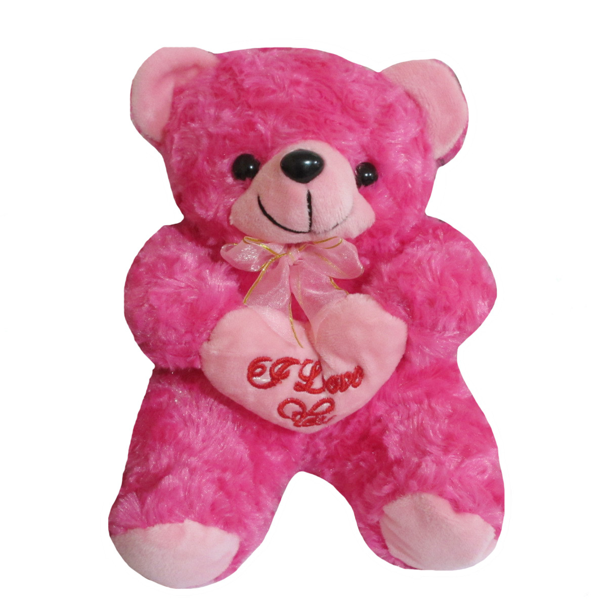Boneka Teddy Bear Beruang Bantal Hati I Love You Rasfur Mawar Pink Tua