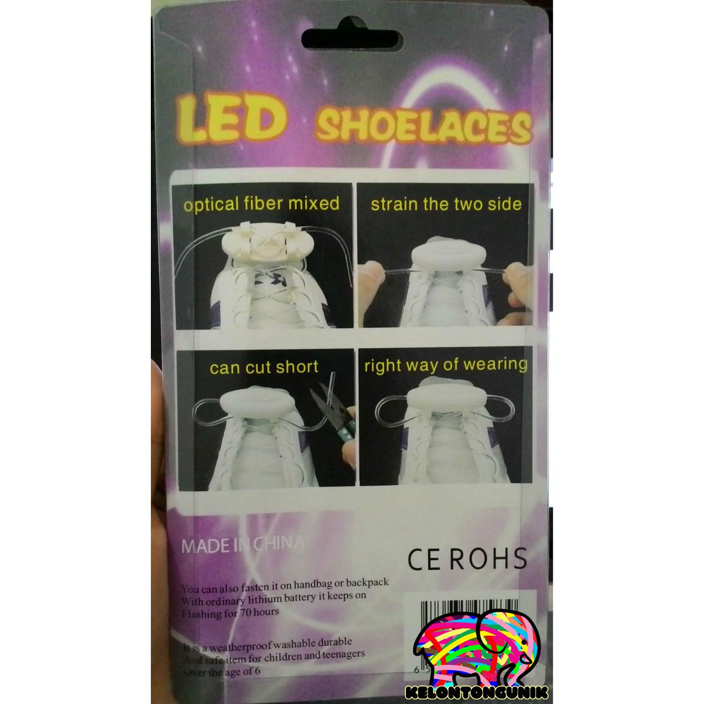 Tali Sepatu Led Mix Warna Glow In The Dark Elevenia 50 Pcs 5mm Nyala Hijau Kedip Blink