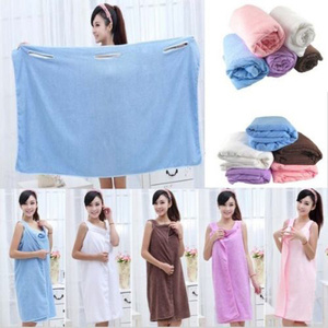 Wearable Bath Towel Dress Baju Handuk Kimono Mandi Renang Multi Fungsi