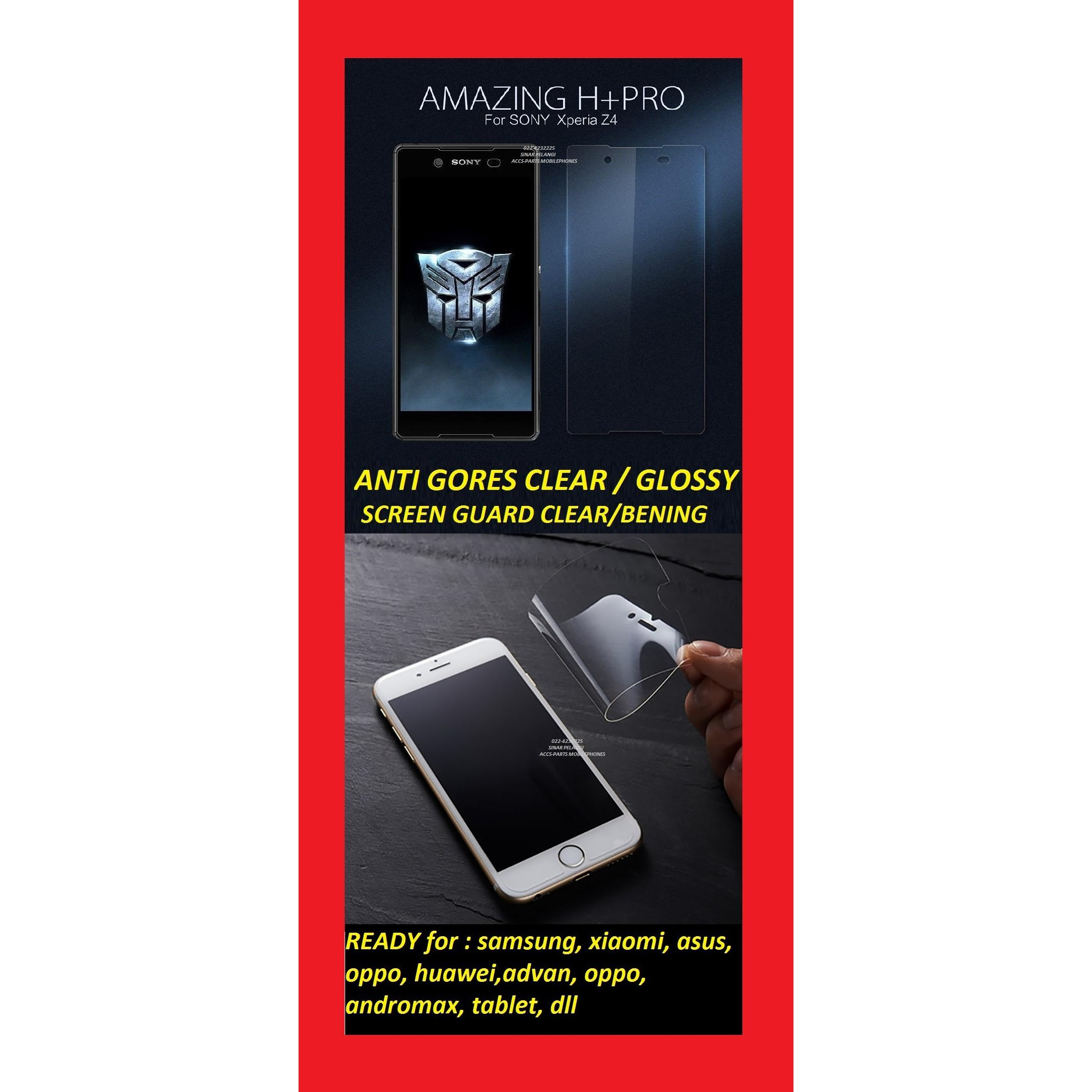ANTI GORES CLEAR GLOSSY TRANSPARANT OPPO F1 SELFIE A35 FLAT SCREEN GUARD PROTECTOR 904521