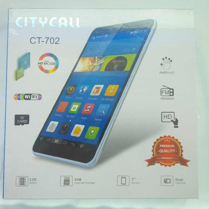Tablet Citycall Ct702 Kitkat 3g Lcd 7 Inch Quadcore Ram 512mb Camera Wifi