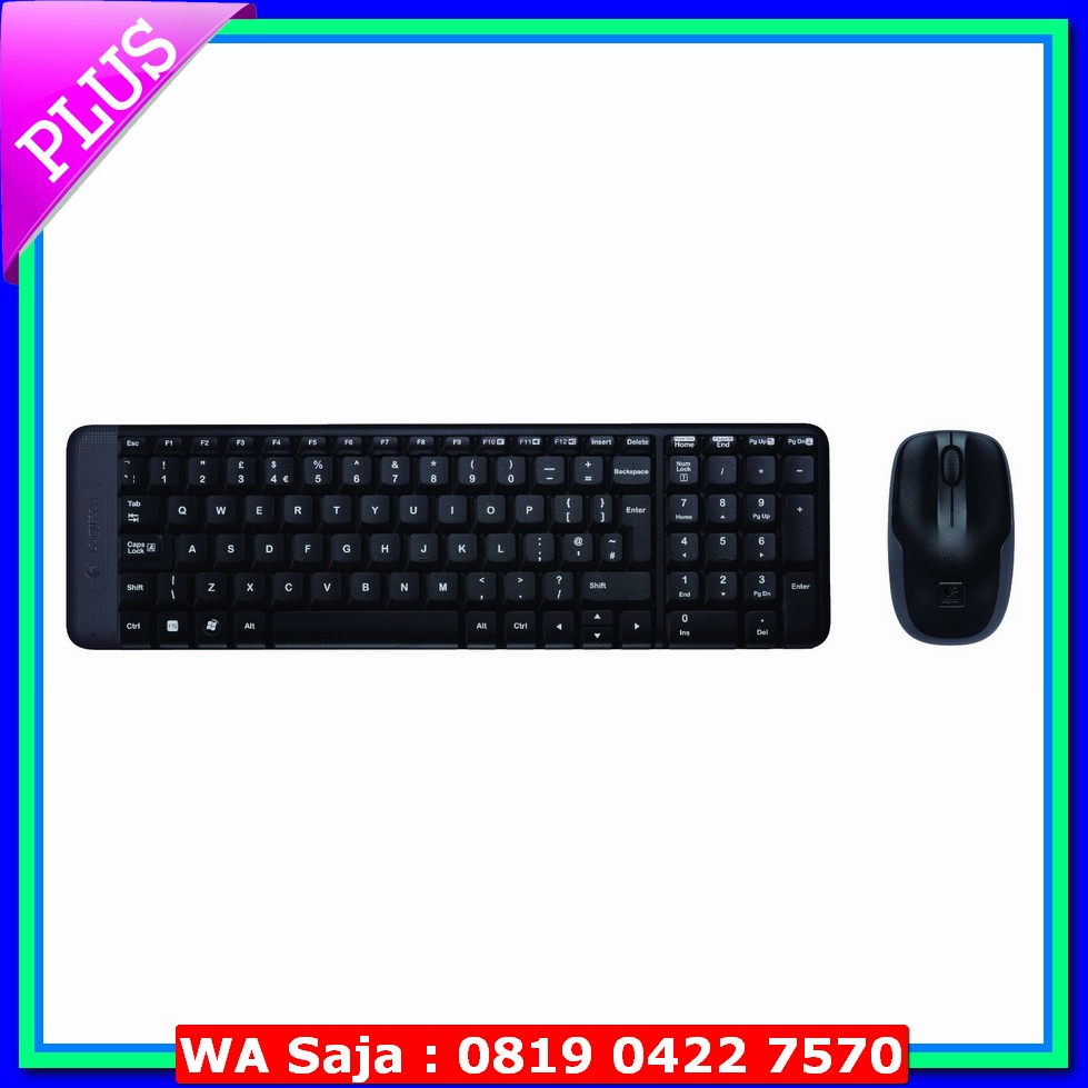 Keyboard Logitech Mouse Mk220 Wireless Usb Original K120
