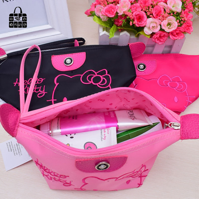 TAS KOSMETIK HELLO KITTY MAKEUP MAKE UP BAG ORGANIZER MAKE UP POUCH .