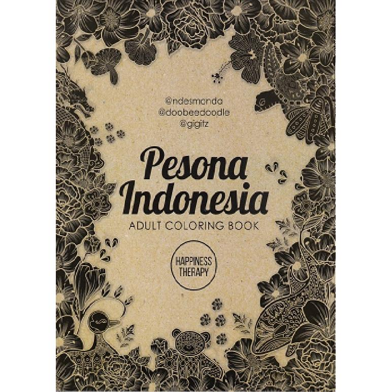 PESONA INDONESIA ADULT COLORING BOOK