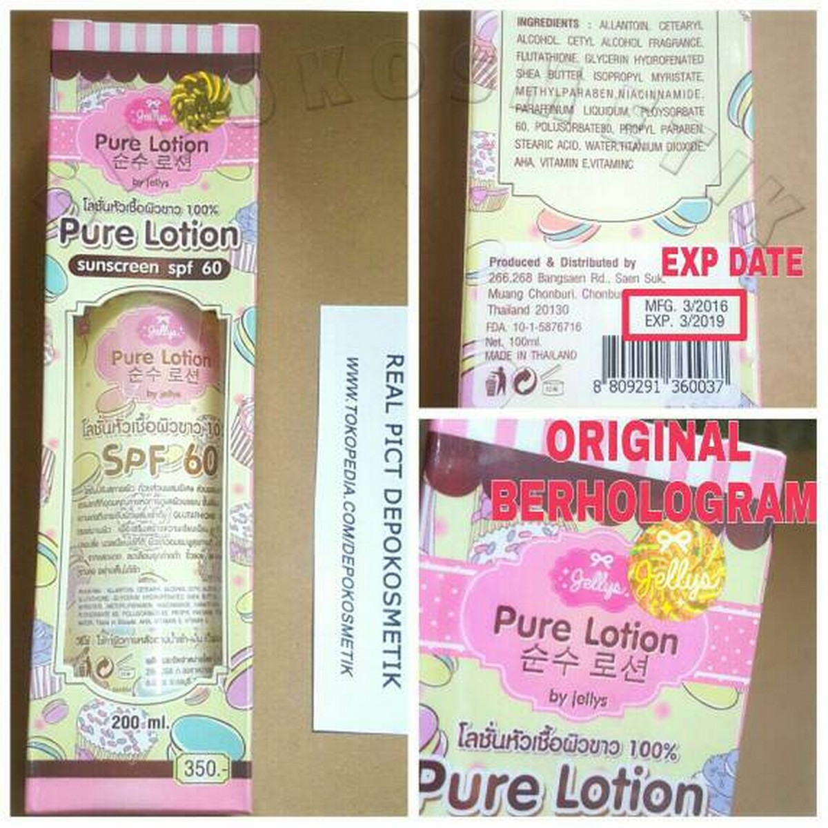 Pure Lotion By Jellys Jelly 200Ml Termurah Promo A08