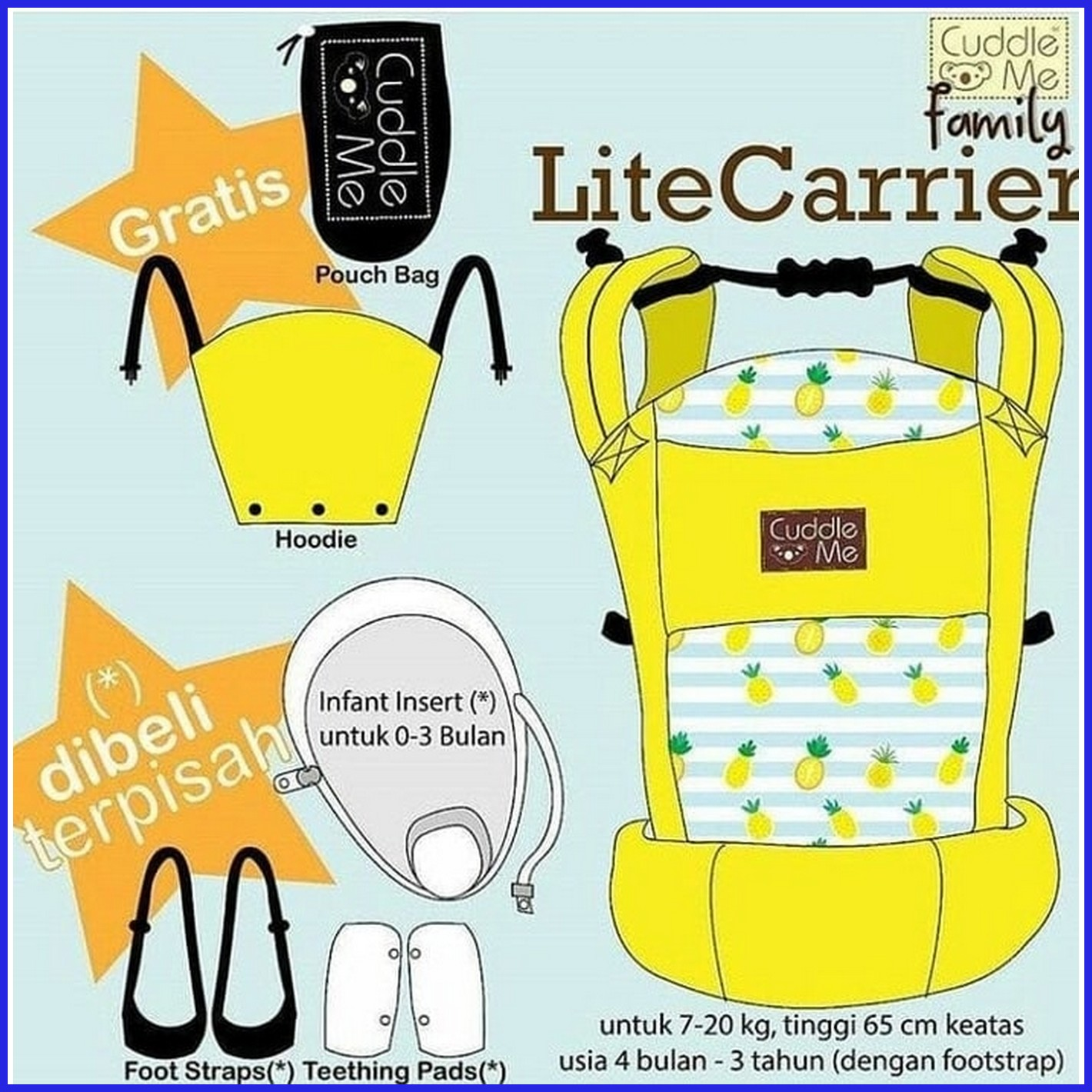 ... Cuddle Me Lite Carrier QUADRANTS Gendongan CudlleMe ...