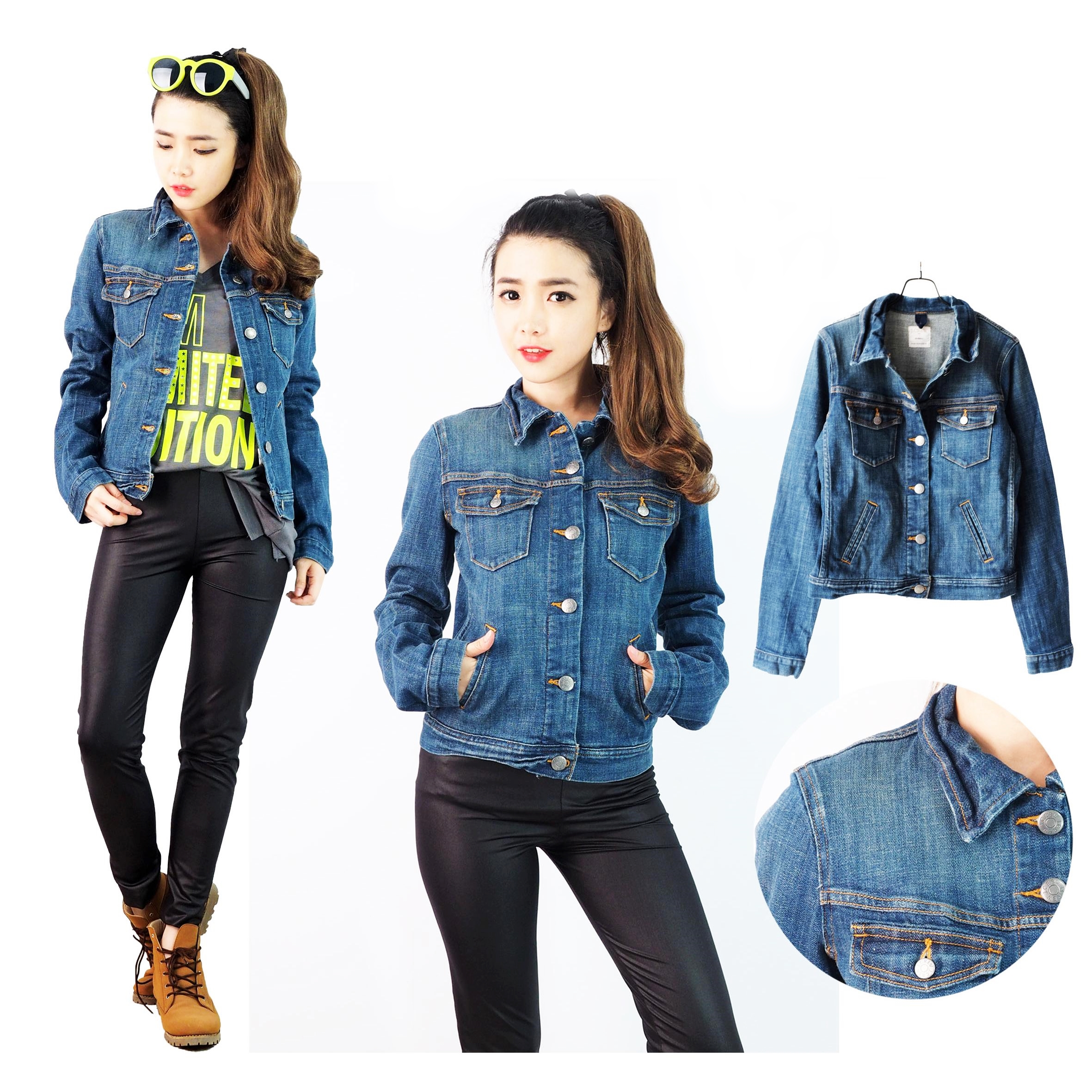 Jcr Women Denim Jacket Elevenia High Pressure Cleaner Krisbow 160bar 2200watt Kw1800725