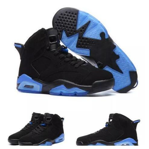 on sale ae425 3b3ec 2017 New Arrival 6s Unc Kids Basketball Shoes Black And Blue High Quality  6s Men Kids Sport Shoes Sneakers Size 36-47 Kids Us Men 12.5 8 New