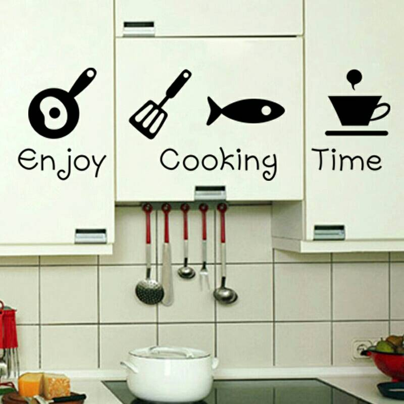 Stiker Dapur Enjoy Cooking Time Wall Sticker Dekorasi Dinding Kitchen Termurah08