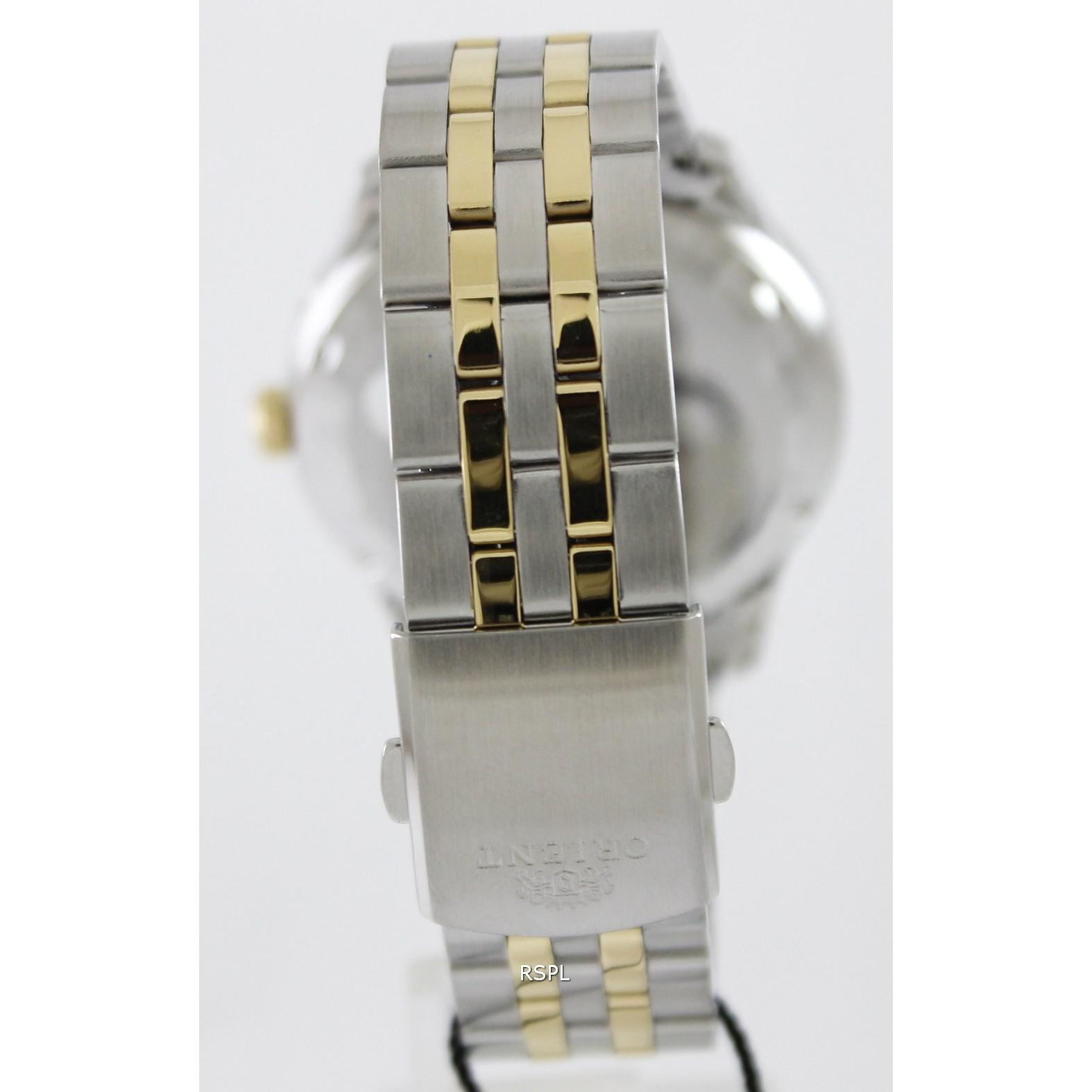Orient Fem7p00cc9 Two Toon Stainless Steel For Men Elevenia Rhythm R1202s02 Jam Tangan Pria Silver Black Strap