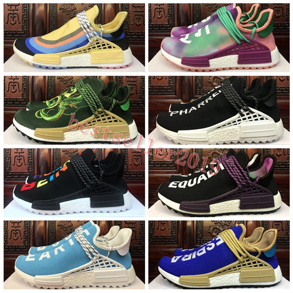 official photos d28eb 57ca6 2018 New Human Race Runner Sean Wotherspoon Pharrell Williams Hu Trail Holi  Women Mens Running Shoes Trainers Brand Designer Sneakers Women us 5 = ...