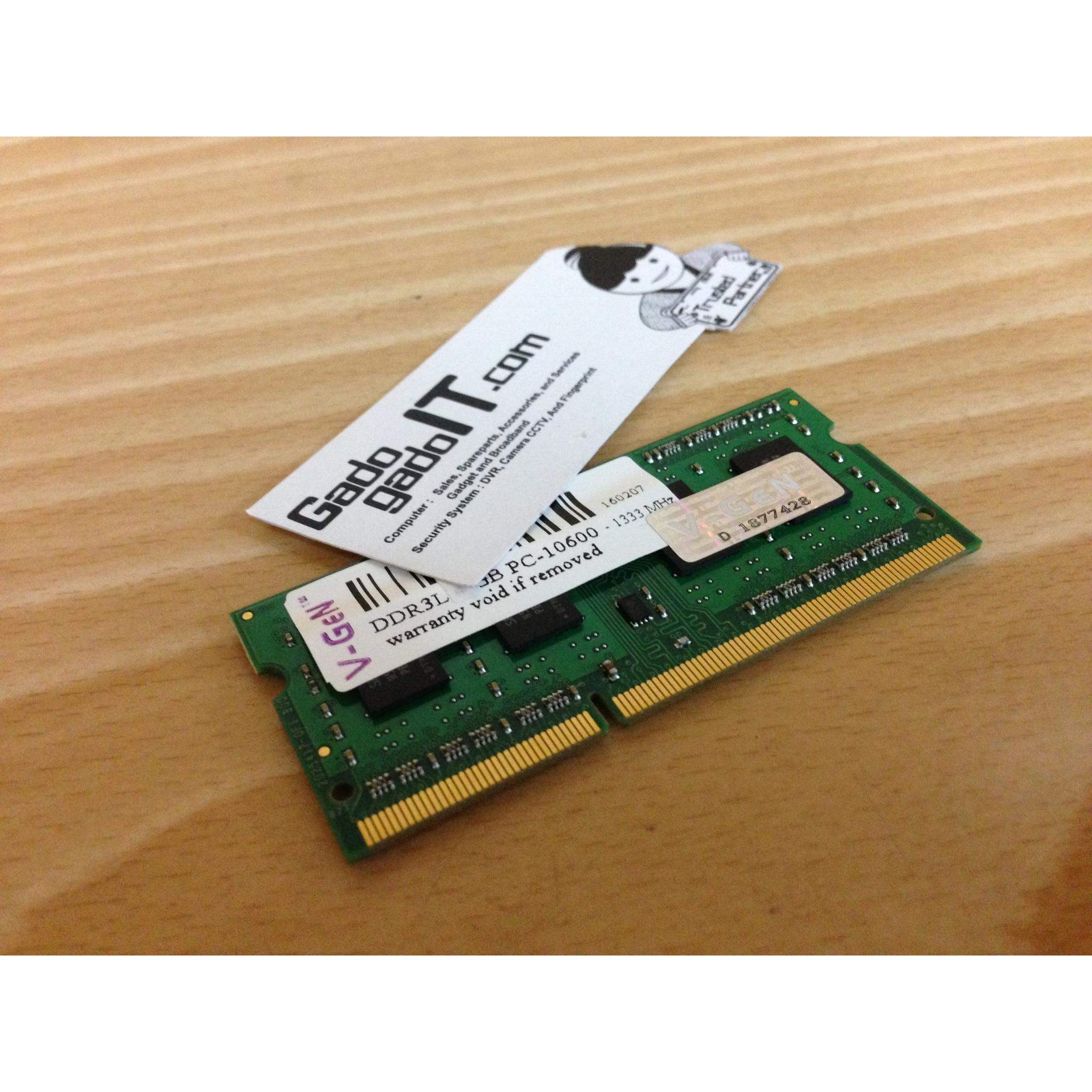 ... Memory RAM Laptop/Notebook V-Gen 4GB DDR3L PC-10600 1333Mhz (SODIMM ...