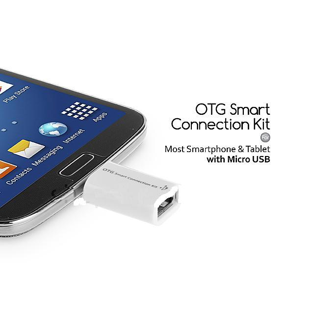Kabel OTG Micro USB dan USB smart connection kit | On The Go Cable | Android Device
