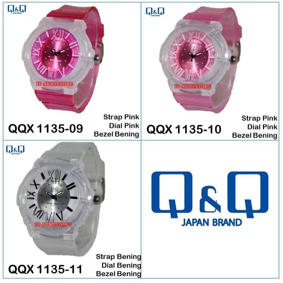 ... Pria FREE WATCH Rubber Hitam Dial Putih Bezel Source Q&Q Jam Source
