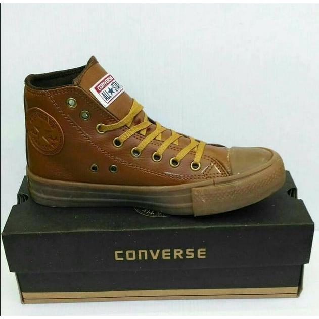 ... Sepatu Sport Casual Sneakers Premium Converse All Star High Kulit (ada  3 Warna) b3c47ec584