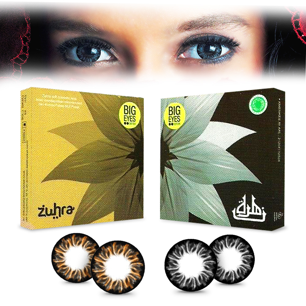 Softlens Zuhra Big Eyes Bermui By X2 Elevenia Diva Queen One Layer With Clear Vision