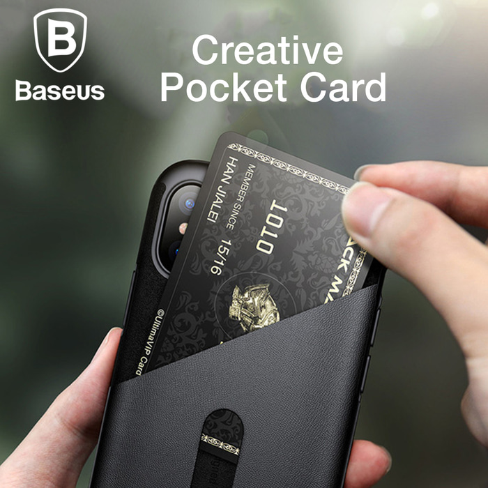CASING IPHONE X BASEUS CARD POCKET CASE