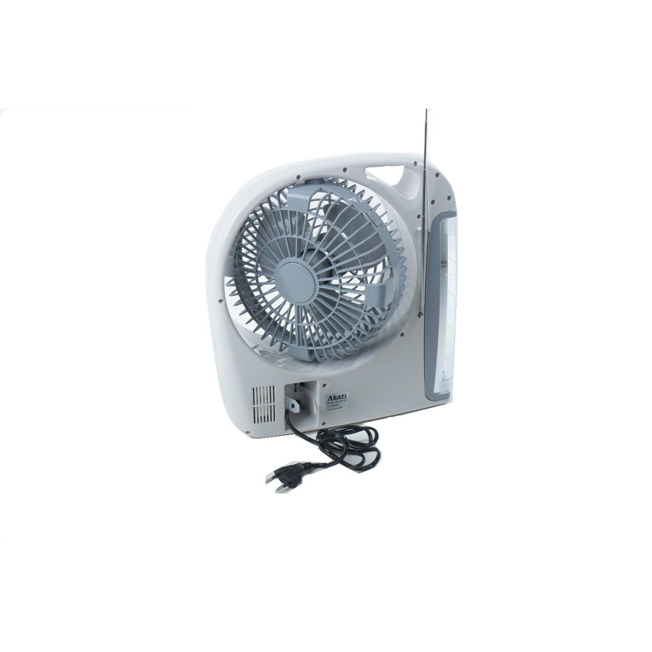 Lampu Emergency Led Dengan Kipas 8 Akari 3 In 1 Portable Fan