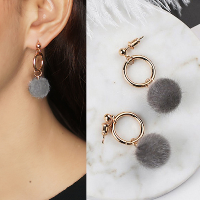 Anneui Ee0056 Anting Double Pearl Candy Stud Daftar Harga Terkini Source · Anting Korea PomPom ring