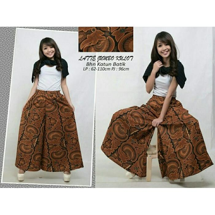 Cj collection Celana batik kulot panjang wanita jumbo long pant Roundy