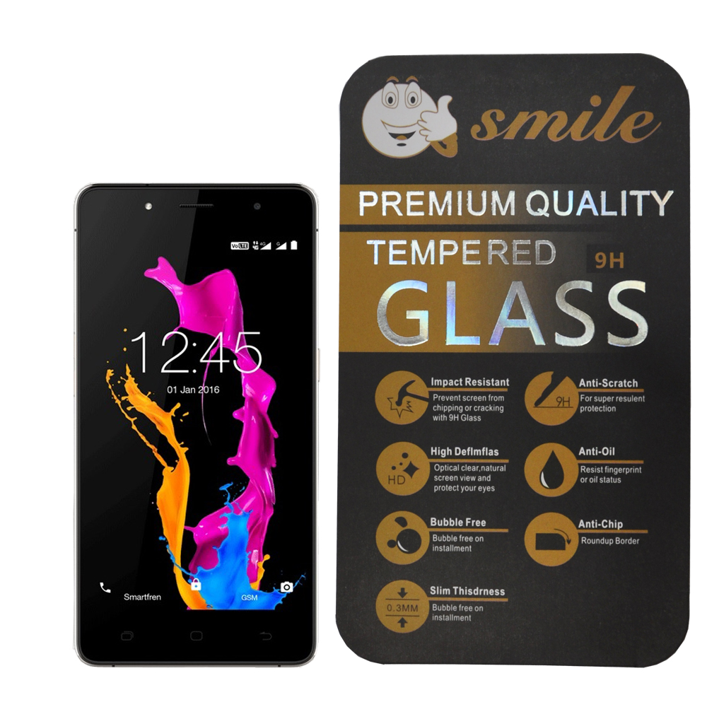 Smile Tempered Glass Andromax R2
