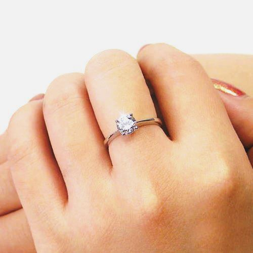 Real Picture Cincin 925s Soilitaire Engagement Wedding