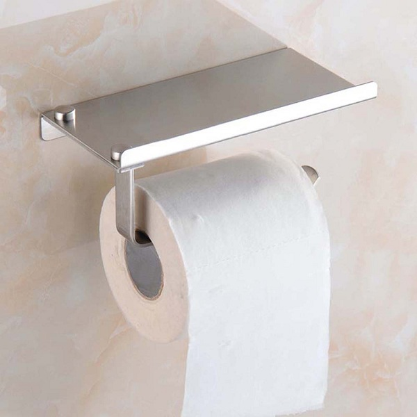 ... Tissue Roll Holder with Phone Tray Tempat Tissue Gulung Stainless Steel ...