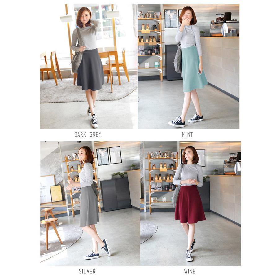 Korean Style Pj56cm Midi Flare A Line Skirtr786 Wedges Spandex Airyrooms Jempol Multifunction Wallet Pasport Organizer