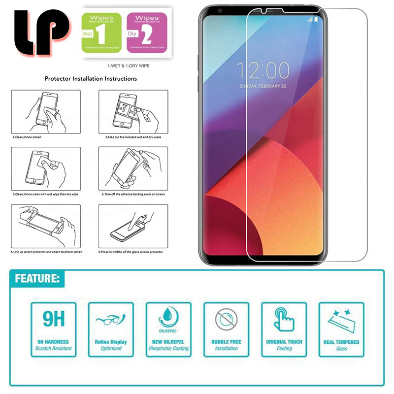 LP HD Tempered Glass Screen Protector for LG V30 - Transparan