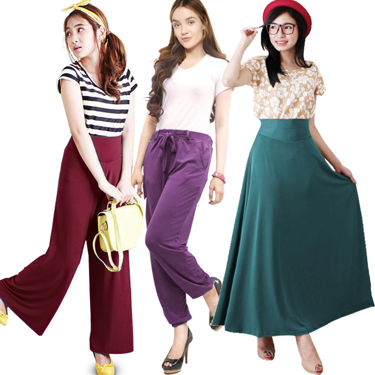 Best Seller Korean Style Pants And Maxi Skirts Hijab Style Elevenia