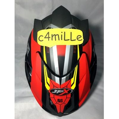 Half Face Helm JPX Supreme Double Visor R2X black dop red