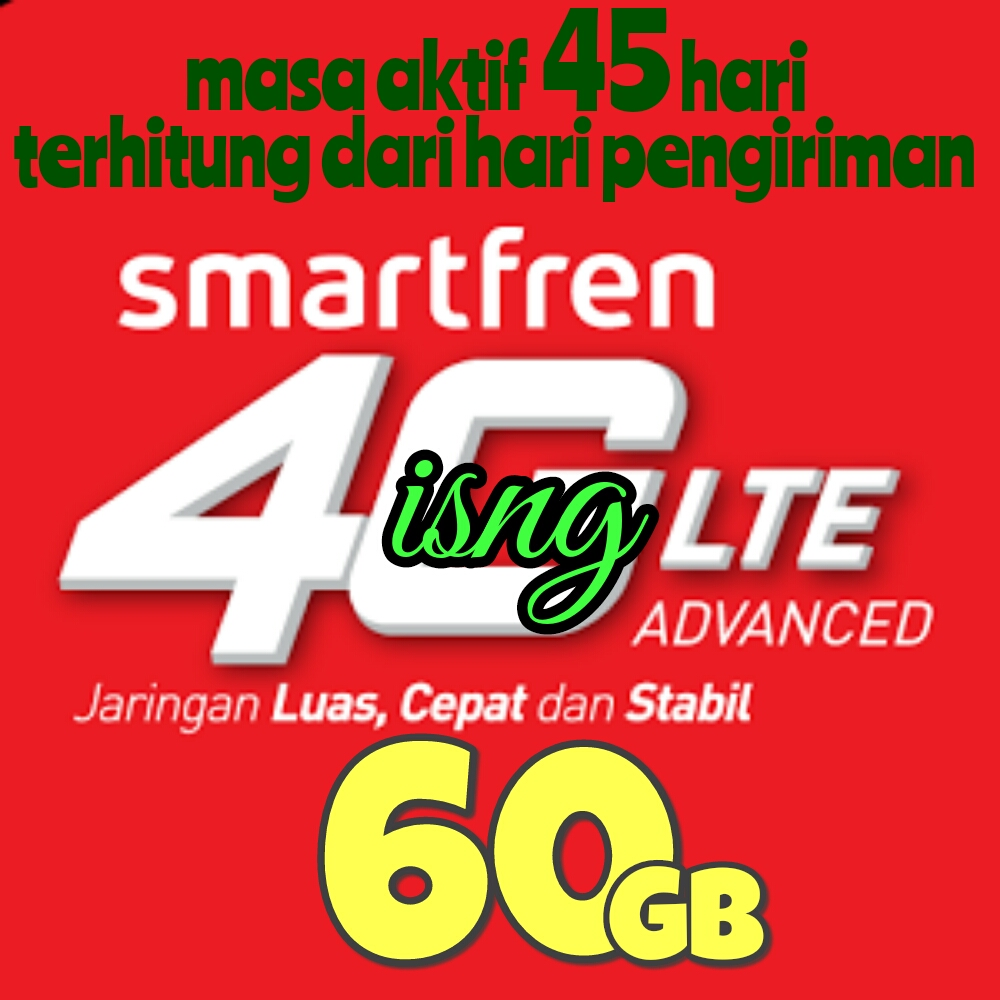 Perdana Smartfren 60gb Bkn 13gb 15gb 30gb Andromax M2p M3s M3y M3z Battery Log On