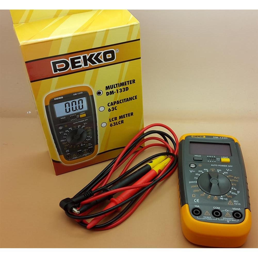 [DEKKO] Digital Multitester Dekko DM-133D