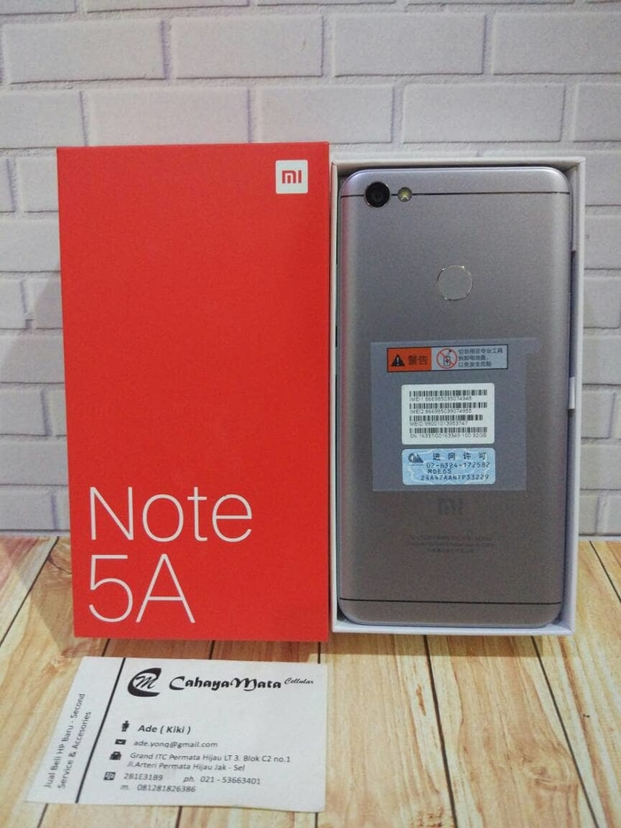 Dijual Xiaomi Redmi Note 5a Prime Grey 3/32 Rom Global Officia Berkualitas