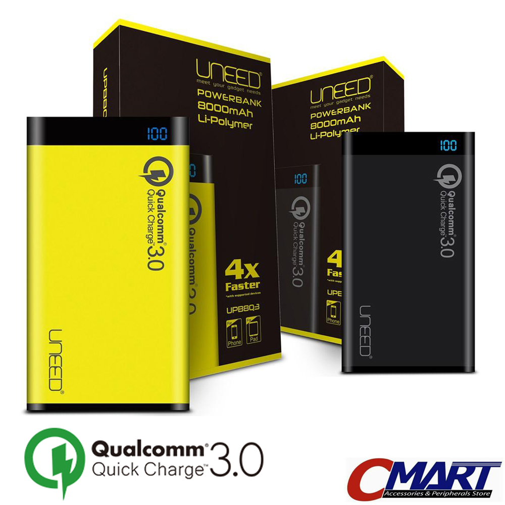 Anker Powercore Power Bank 10000mah Qualcomm Qc 30 Hitam Review 10050 Mah Quick Charge 20 Premium Travel Pouch A1310012 Uneed Powerbank 8000 Upb8q3