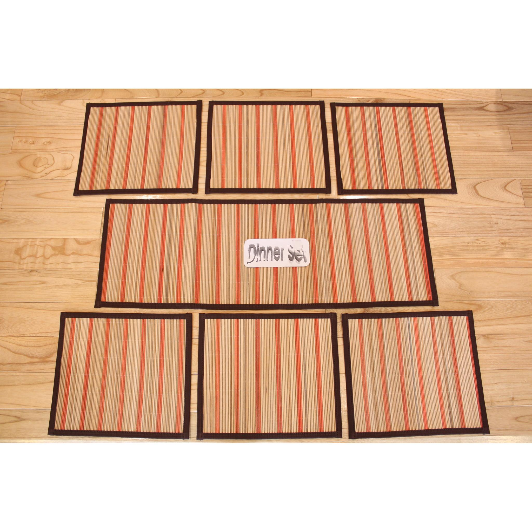 Kitchen Set Warna Orange: Set Taplak Piring Core Rotan (warna Orange), Taplak Meja
