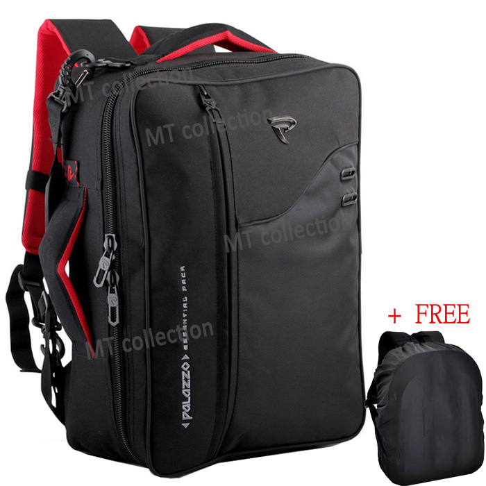 PALAZZO BACKPACK R3X1+ TAS RANSEL 3IN1 + RAIN COVER POLOS