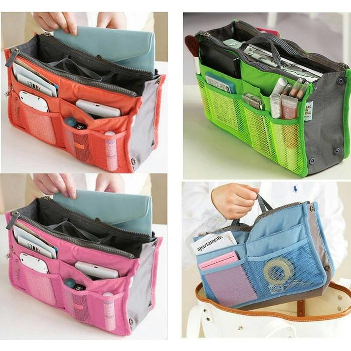 KOREA DUAL BAG IN BAG ORGANIZER TAS - HIGH QUALITY