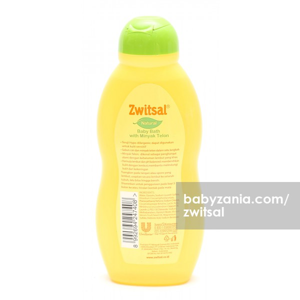 Zwitsal Natural Baby Bath With Minyak Telon